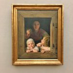 Фото-Вальдмюллер -Ferdinand Georg Waldmuller Junge Bauerin mit drei Kindern im Fenster, 1840