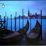 Заказать картину - Венецианская ночь,Серия_Города,где я бывал,40х60,2005г..Караваев О.