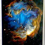Вселенная,цикл.Скопление звезд NGC 602,холст,масло,50х60,2007г..Караваев О.