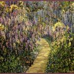 Заказать картину - В саду Глициний,х.м.50х60,2012 г.,Олег М. Караваев