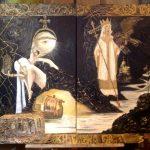 Диптих-Княгиня Ольга принимает решение о крещении, 100х70х2+100х70х1,5-Татьяна Золотухина
