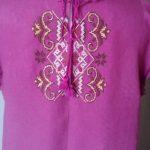 Жіноча сукня,зворотня сторона, вишивка хрестом ,ручна робота, льон-Італія, муліне - Катерина Черненко