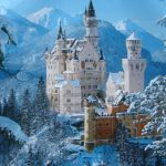 Фото-Замок Нойшванштайн зимой