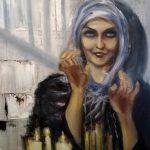 Крещенские гадания,холст,масло,60х80,2018 г. - Дмитрий Косариков- живопись маслом