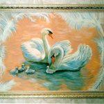 Картина маслом - Марципановые лебеди,холст,масло,60х80,2011г.