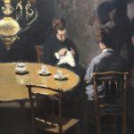 Заказать картину-Моне Клод-Интерьер после ужина-1868г. Фрагмент1