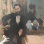 Картина-Моне Клод-Интерьер после ужина-1868г. Фрагмент3