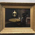 Картина-Моне Клод-Интерьер после ужина-1868г.