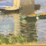 Картина-Моне Клод-Claude Monet Seinebrucke von Argenteuil, 1874-фрагмент