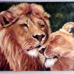 Картина маслом - На страже любви,холст,масло,40х50,2008г.