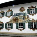 Роспись стен-Обераммергау-художественная роспись домов