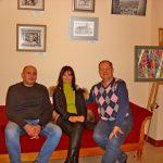 Фото-Организаторы выставки-Татьяна Суярко, Олег М. Караваев и Петр Грицюк
