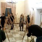 Фото-Подготовка к выставке художников-судей