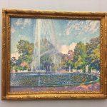 Картина-импрессинизм-Рейссельберге Тео ван-Theo van Rysselberghe Springbrunnen im Park von Sanssouci bei Potsdam, 1903