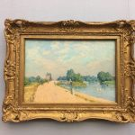 Картина-импрессинизм-Сислей-Alfred Sisley Der Weg nach Hampton Court, 1874