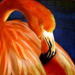 Фламинго,холст,масло, 40х60,2006г.-картина маслом