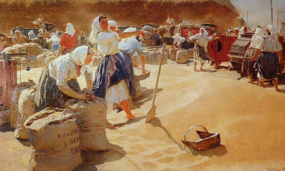 Картина-Хлеб,холст, масло, 1949 г.- Татьяна Яблонская