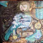 Заказать картину-Хроники Акаши... Хранители живой мудрости.... Масло 50х60-Татьяна Золотухина