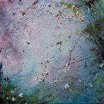 Купить картину-Цветочки 2,холст,масло,20х20, 2018 г. Ксения Чащина
