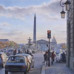 Картина-Les points rouges de la place de la Concorde-Тьерри Дюваль (Thierry Duval)