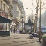 Картина-Misty morning on the grand boulevards of Paris-Тьерри Дюваль (Thierry Duval)