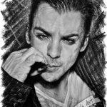 Shannon Leto, A5, графитовые карандаши, 2018 - Негода Евгения-заказать портрет по фотографии