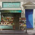 The grocer of the Rue de Seine - Original watercolor - Paris, 20,9 x 14-Тьерри Дюваль (Thierry Duval)