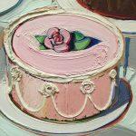 Картина-Thiebaud Wayne-Cakes, холст, масло,1963 г. Фрагмент