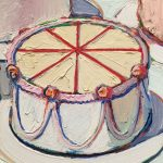 Thiebaud Wayne-Cakes, холст, масло,1963 г. Фрагмент2