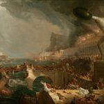 Картина, заказать картину-Коул Томас-Cole_Thomas_The_Course_of_Empire_Destruction_1836