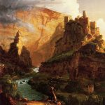 Картина-Коул Томас-Cole_Thomas_Valley_of_the_Vaucluse_1841