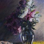 Бузковий настрій, полотно, олія, 70Х50, 2018 р-Михайловський Дмитро