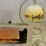 Репродукции известных картин на ёлочных игрушках-заказать картину, Моне Клод