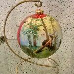 Репродукции известных картин на ёлочных игрушках-заказать картину, роспись-Шишкин