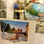 Картины художников-Репродукции известных картин на ёлочных игрушках-заказать картину, роспись-Левитан