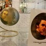 Репродукции известных картин на ёлочных игрушках-заказать картину, роспись-Тарас Шевченко