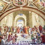 Сикстинская капелла-Афинская школа-Микеланджело-Рафаэль