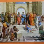 Фото- Афинская школа-открытка из Музея Ватикана-Благословение Портала Папой Римским