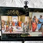 Афинская школа-2 открытки из Музея Ватикана-Благословение Портала Папой Римским-фото