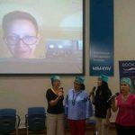 С вокальным коллективом Талир иполняем песню для татарской писательницы Гузель Яхина