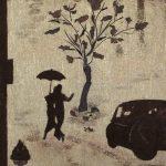 Вечер в Париже,авторская техника,прессованная флористика, 40х50, 2017г. Косик Анастасия (г.Краматорск)