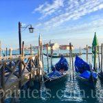 Гондолы,Венеция,репортаж Анны Прохоровой,заказать картину по этой фотографии