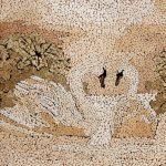 Косик Анастасия, О верности спроси у лебедей, мозаика из неокрашенной яичной скорлупы г.Краматорск