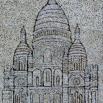 Святое сердце, мозаика из неокрашенной яичной скорлупы,20х30 Анастасия Косик, г.Краматорск