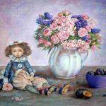Кукла, холст, акрил, 50х60, 2018 г. - Лилия Онищук (г.Одесса)