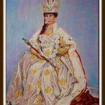 Королева - портрет на заказ 120х160, 2018