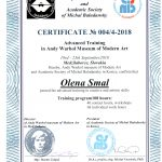 Сертификат музея Энди Уорхола