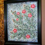 Весна. Цветение японской груши, акрил (паста). оргалит. 48х61 см. 2018 г.-авторская техника, объёмная живопись