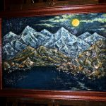 Гималаи, (Из серии_Вершина Мира),Акрил. Оргалит. 65х46 см. 2018 г.-авторская техника, объёмная живопись