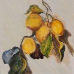Ветка лимонов, вольная копия картины Клода Моне,- Марго Пугаченко